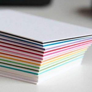 tarjetas gruesas colores